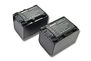 INTENSILO 2x Li-Ion batería 1500mAh (7.2V) para videocámara Sony DCR-DVD310E, DCR-DVD410E, DCR-DVD450E por NP-FV70, NP-FV90, NP-FV100.