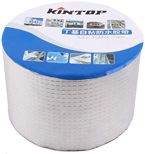 Heart Horse RV Roof Sealant Tape, Mobile Home Rubber RepairTape, Patch & Shield Camper Roofing Sealant Leak Sealer, UV Proof, Aluminum Silver White 4'' X 33' 10cm X 10M