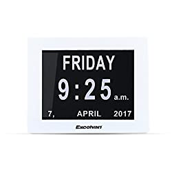 Excelvan 8 Digital Calendar Day Clock LED Extra Large Day Week Month Auto Dimming