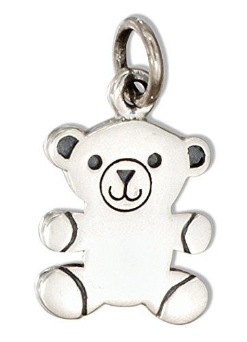 Sterling Silver Teddy Bear Charm - 4