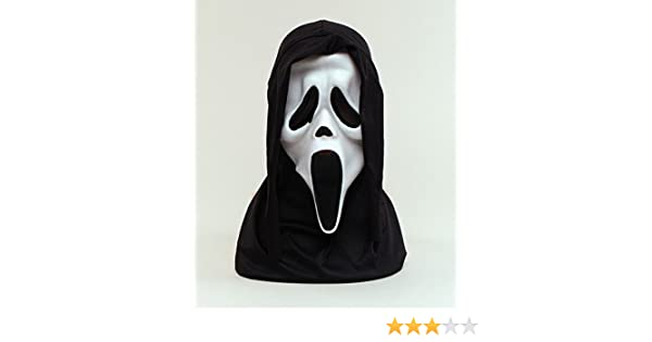 Halloween White Scream Face Mask With Hood Scary Fancy Dress (máscara/careta): Bristol Novelty: Amazon.es: Juguetes y juegos