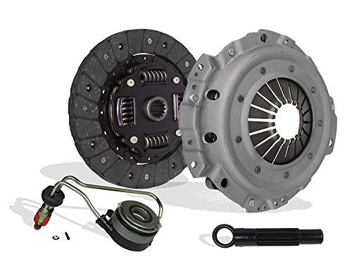Clutch Kit With Slave Cylinder works with Chevrolet Cavalier Pontiac Sunfire Base Se Ls Rs Coupe Sedan 2.2L L4 GAS OHV Naturally Aspirated ()