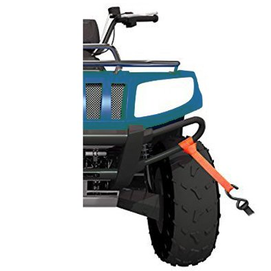 Snowmobile PerfecTech 1 x 12 Soft Loops Tie Down Straps Black for ATV Pack of 6 UTV Motorcycle /& Dirt Bike