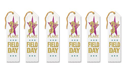 Beistle AR153 3rd Place Field Day Award Ribbons, 2 by 8-Inch, (Field Day Ribbon)