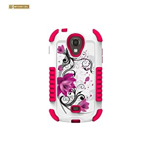 Beyond Cell Duo Shield Durable Hybrid Hard Shell and Silicone Gel Case for Samsung Galaxy Light T399, Non-Retail Packaging, Lotus White/Pink