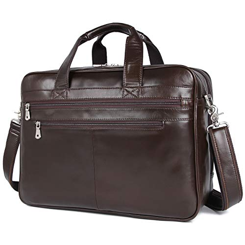 Real Coffee Brown Soft Nappa Leather Business Bag