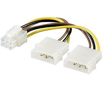 Cable de alimentacion para Tarjeta Grafica PCI-E 6 Pin 0.15 ...