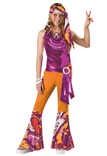 InCharacter Costumes Tween Kids Dancing Queen Costume, Orange/Purple, Large