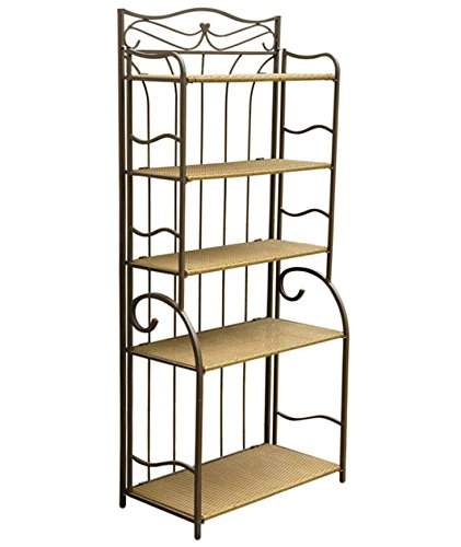 International Caravan Valencia 5 Tier Resin Bakers Rack in Honey Pecan by International Caravan