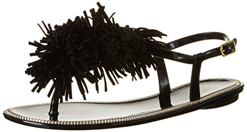 BUFFALO Pth-0014 Pvc, Sandalias con Cuña para Mujer Negro (BLACK 01)