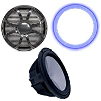 Wet Sounds Revo 10 Marine Subwoofer, Grill, & RGB LED Ring - Black - 4 Ohm