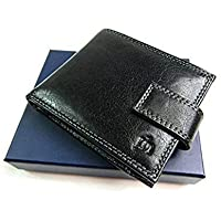 The Leather Emporium Rfid Protected Designer Premium Black Genuine Leather Wallet Credit Card Holder Purse