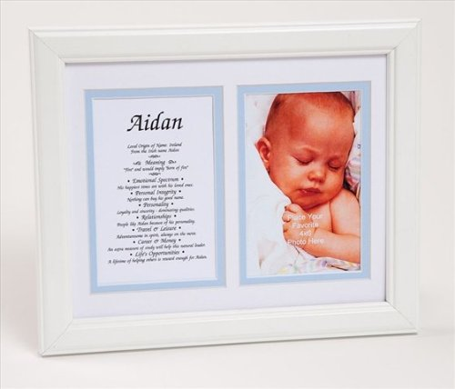 Townsend FN04Hugo Personalized First Name Baby Boy & Meaning Print - Framed44; Name - (Hugo Framed)