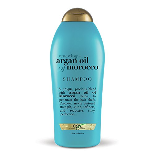 OGX Renewing Moroccan Argan Oil Shampoo, 25.4 Ounce Bottle, Salon Size, Strengthens, Softens and Protects Sulfate-Free Surfactants Argan Oil Shampoo