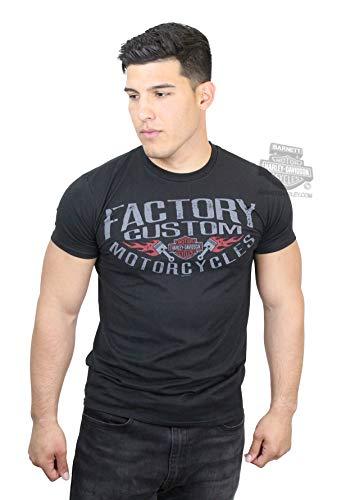 Harley-Davidson Mens Factory Custom Pistons Black Short Sleeve T-Shirt - Pistons Custom