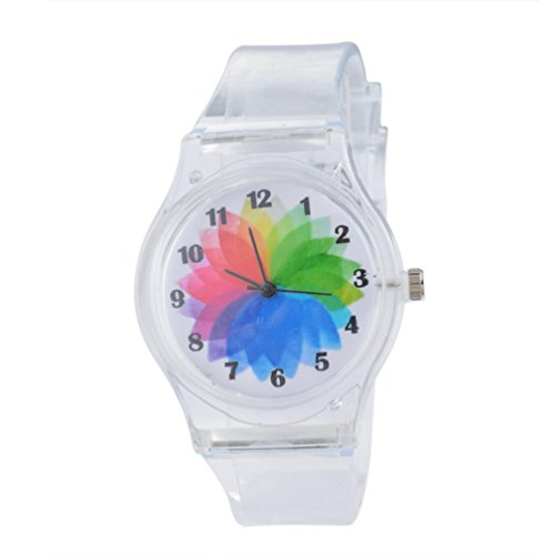 (MJartoria Plastic Transparent Color Jelly Watch 22.5CM)