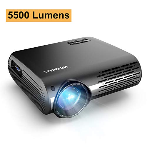 Projector, WiMiUS P20 Native 1080P LED Projector, 5500 Lux Movie Projector Support 4K Video Zoom Function ±50°Digital Keystone Correction 70,000 Hrs for Home Entertainment & PPT Business Presentation