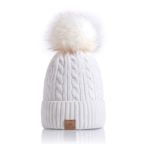 23797f738ba Jual PAGE ONE Women Winter Pom Pom Beanie Hats Warm Fleece Lined ...