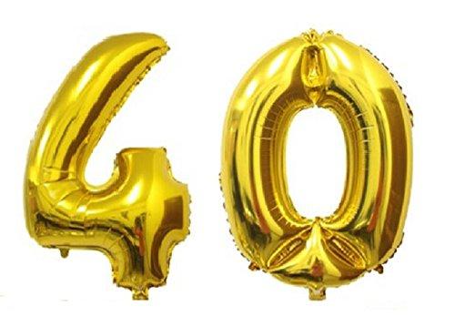 c-spin 40 - 40 Big grande metálico oro número globo 40