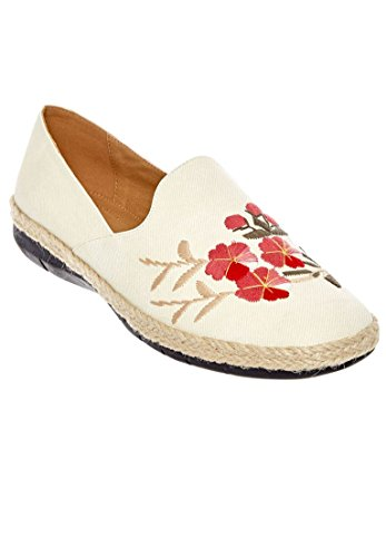 Comfortview Womens Large Baylee Flats Flocons Davoine