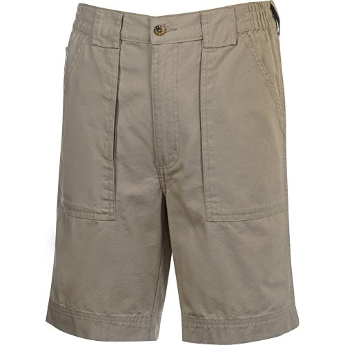 Long Inseam Shorts (Hook & Tackle® Men's Beer Can Long Neck Cargo Fishing Short Sand 38)