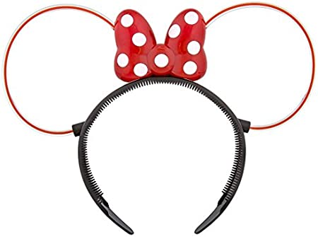 Light-Up Mickey Mouse Headband Ears Blinking LED Minnie Flashing Party