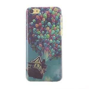 MOFY- globos de colores patr—n pc estuche r'gido, con marco negro para 5c iphone