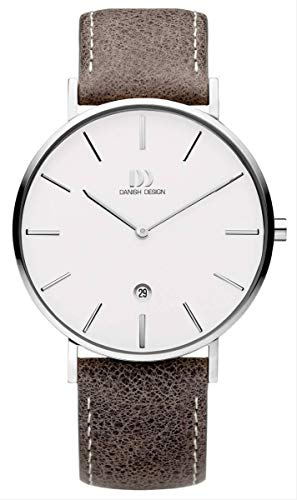 Danish Design Mens Analogue Quartz Watch with Leather Strap IQ12Q1231 ()