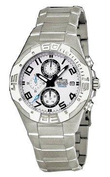Reloj Lotus crono caballero titanio. Resistente al agua 100 metros: Amazon.es: Relojes