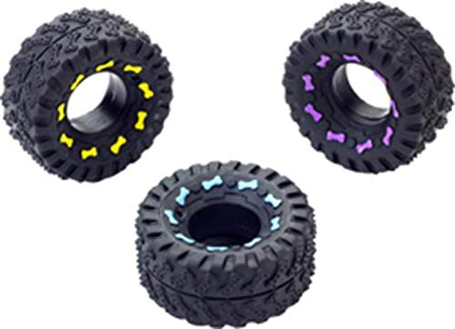 Ethical Pet Vinyl - Ethical Squeaky Vinyl Tire Dog Toy, 3-1/2-Inch
