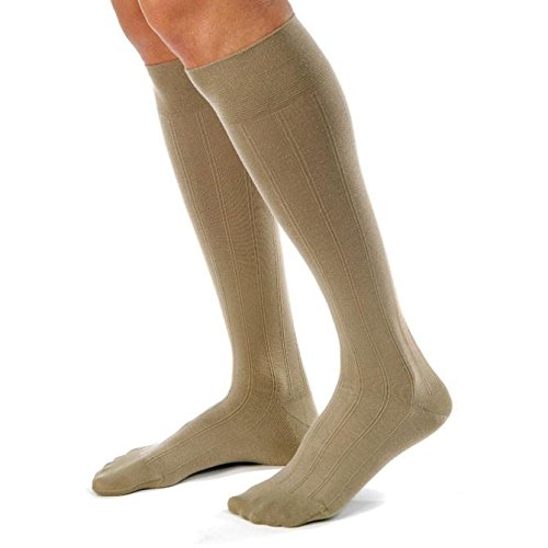 - BSN Medical/Jobst 113107 Men Casual Sock, Knee High, 15-20 mmHg, Closed Toe, Large, Tall, Black, Pair