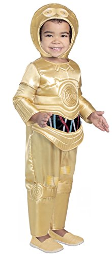Princess Paradise Classic Star Wars Premium Toddler C-3Po Costume, Gold, 2T ()