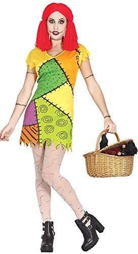 Ladies Nightmare Rag Doll Patchwork Broken TV Book Film Halloween Horror Scary Fancy Dress Costume Outfit (UK -