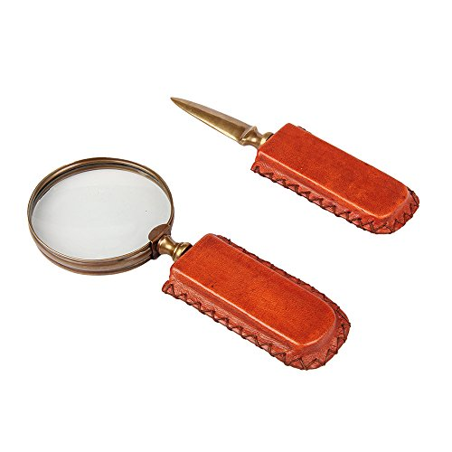 Aheli Magnifying Glasses for Reading Handcrafted Magnifier and Envelope Letter Opener Knife with Resin Handle Reading, Exploring, Hobby and Crafts from Aheli