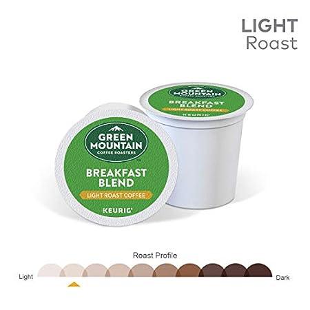 Light Roast Coffee 96 Count Green Mountain Coffee Roasters Breakfast Blend Keurig Single-Serve K-Cup Pods