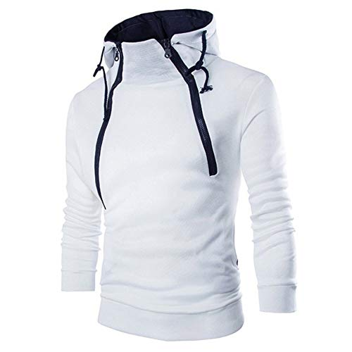 - Leegor Men Sportswear Hoodies Spring Cowl Neck Sweatshirt Long Sleeve Casual Pullover Outwear