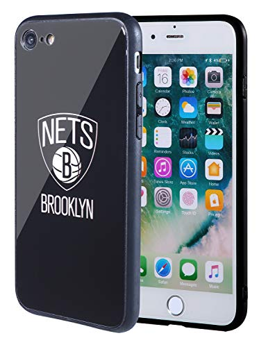 - The Mass iPhone 8 case, iPhone 7 case, NBA Team Logo on Tempered Glass Back Cover and Soft TPU Frame for Apple iPhone 8/7 (Brooklyn Nets, 4.7 inch)