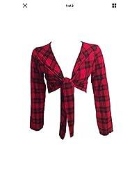 Glamorous Fashion Women's Ladie's Printed Long Sleeve tie Shrugs Small - XXL