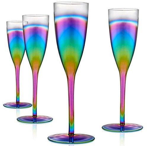 Artland Rainbow Flute, Set of 4 ()
