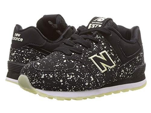 [new balance(ニューバランス)] メンズランニングシューズ?スニーカー?靴 IC574v1 (Infant/Toddler) Black/Glow In The Dark 6.5 Toddler (14cm) M