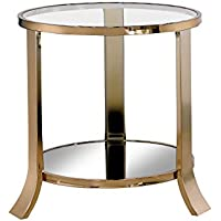 HOMES: Inside + Out IDF-4371E Skyler End Table, Champagne