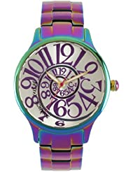 Betsey Johnson Womens BJ00040-11  Analog Rainbow Stainless Steel Case and Bracelet Watch