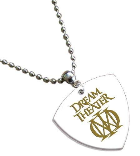 Dream Theater Hot Foil on White Bass Pick Collier Médiator
