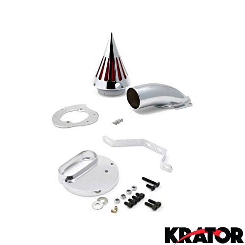 Krator Motorcycle Chrome Spike Air Cleaner Intake Filter For 1999-2004 Yamaha V-Star 1100