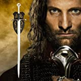 """S0704 Movie Lord of the Rings Anduril sword of King Elessar Aragorn w/ wall mount 52.2"""""""