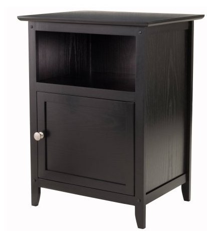 Accent Night Stand (2 Black) by Winsome (Image #1)