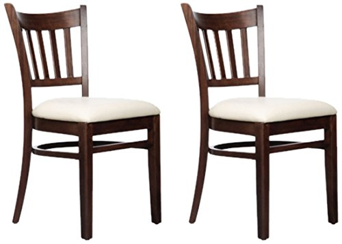 Beechwood Mountain BSD-4S-W Solid Beech Wood Side Chairs in Walnut for Kitchen and dining, set of 2