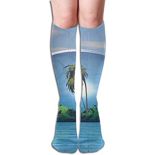 Long Stocking 3D Beach Women's Over Knee Thigh Winter Warm Sexy Stocks Knitting Welt]()