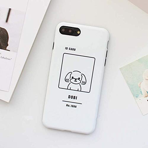 1 lot JiBan Lovely Cartoon Dog Couples Phone case for iphone 6 6s plus 7 8 c625132a330f3