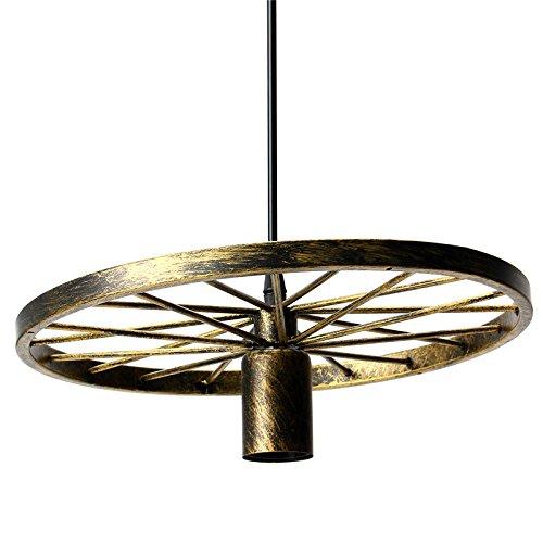 Stupendous Vintage Industrial Loft Pendant Light Retro Iron Wheel Hanging Light Wiring Cloud Hisonuggs Outletorg